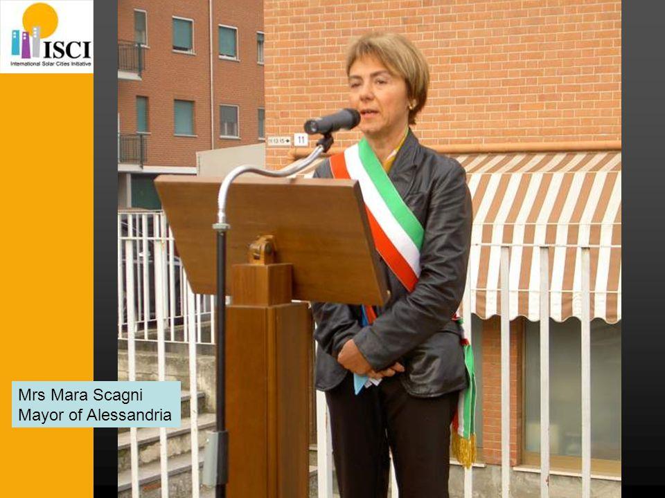 Mrs Mara Scagni Mayor of Alessandria