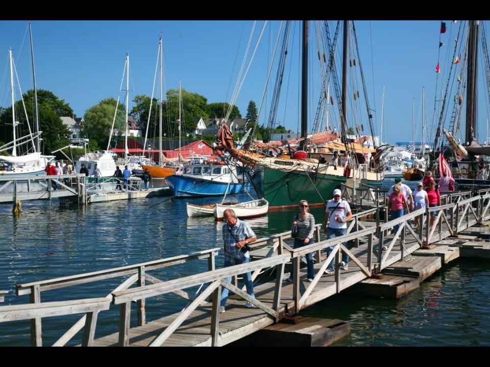 Camden, the coast of Maine, summer festivities