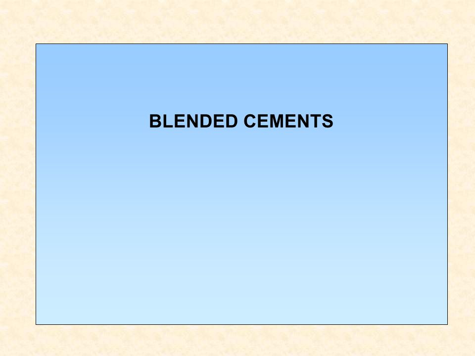 BLENDED CEMENTS