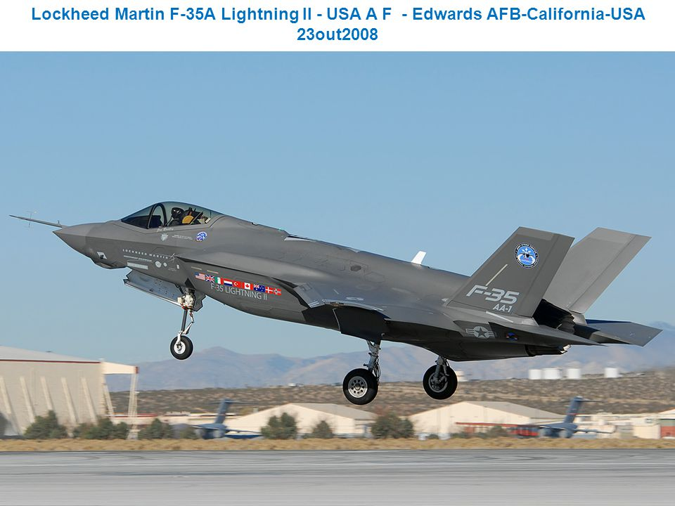Lockheed Martin F-35A Lightning II - USA A F - Edwards AFB-California-USA 23out2008