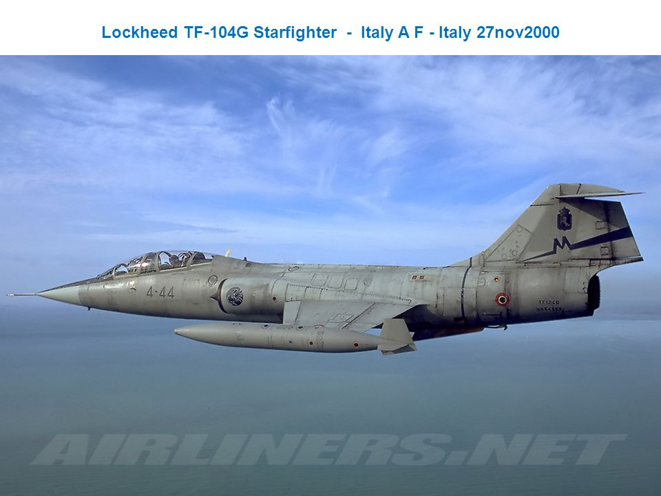 Lockheed TF-104G Starfighter - Italy A F - Italy 27nov2000