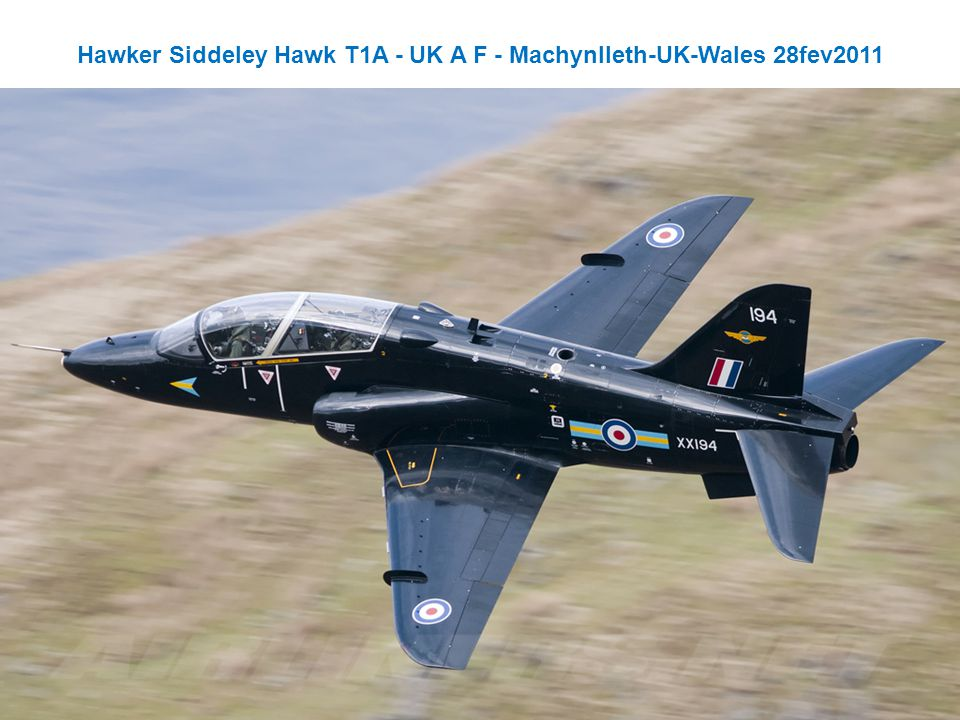 Hawker Siddeley Hawk T1A - UK A F - Machynlleth-UK-Wales 28fev2011