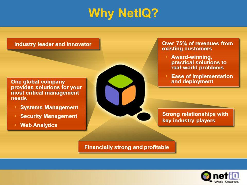 Why NetIQ.