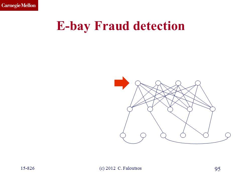 CMU SCS 15-826(c) 2012 C. Faloutsos 95 E-bay Fraud detection
