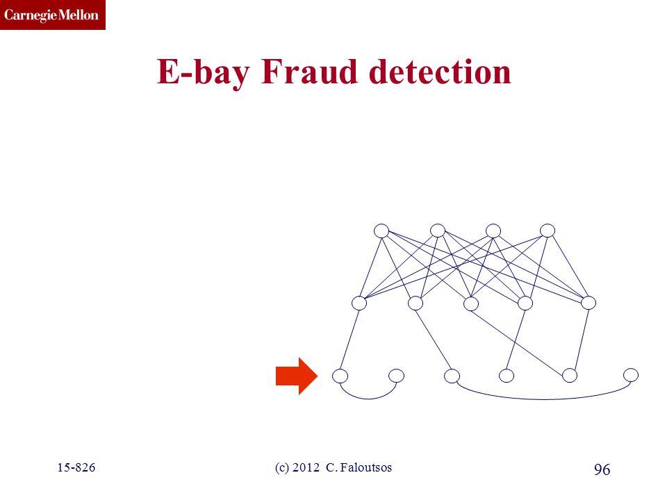 CMU SCS 15-826(c) 2012 C. Faloutsos 96 E-bay Fraud detection