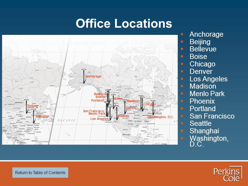 Office Locations  Anchorage  Beijing  Bellevue  Boise  Chicago  Denver  Los Angeles  Madison  Menlo Park  Phoenix  Portland  San Francisco