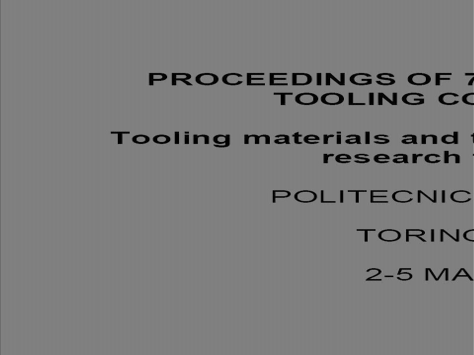Materials Research Center, Leoben Austria Bohler Austria University of Brescia, Italy Bohler, Austria Institute of Metals and Technology, Ljubliana, Slovania