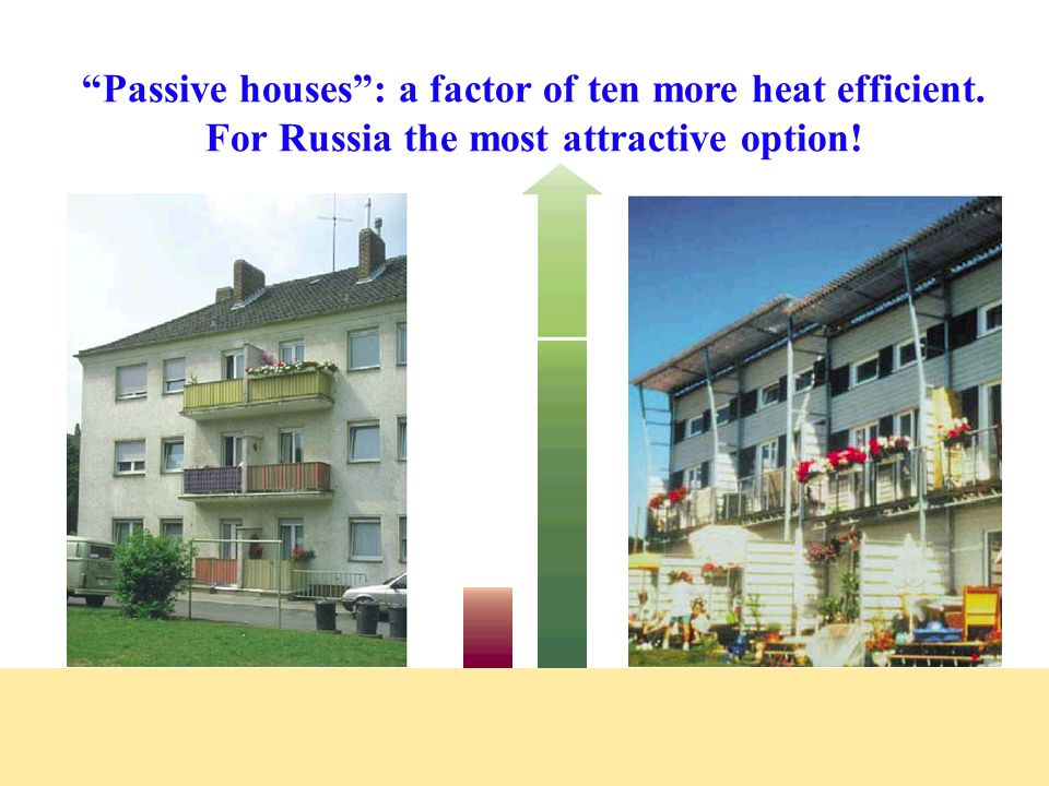 Refurbishing existing buildings, even more important in Russia! Above photos Below: thermographs