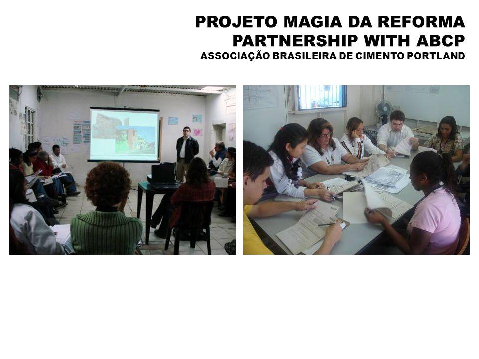 PROJETO MAGIA DA REFORMA PARTNERSHIP WITH ABCP ASSOCIAÇÃO BRASILEIRA DE CIMENTO PORTLAND