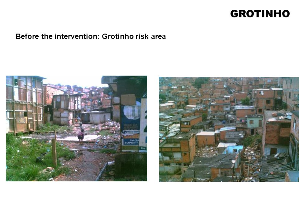 Before the intervention: Grotinho risk area GROTINHO
