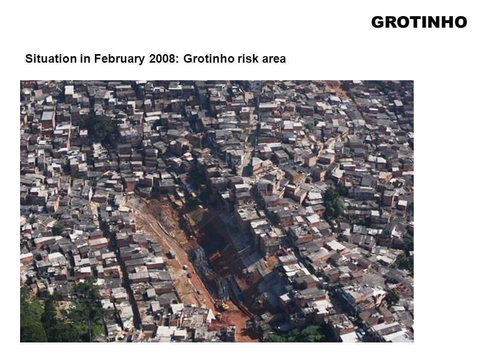 Situation in February 2008: Grotinho risk area GROTINHO
