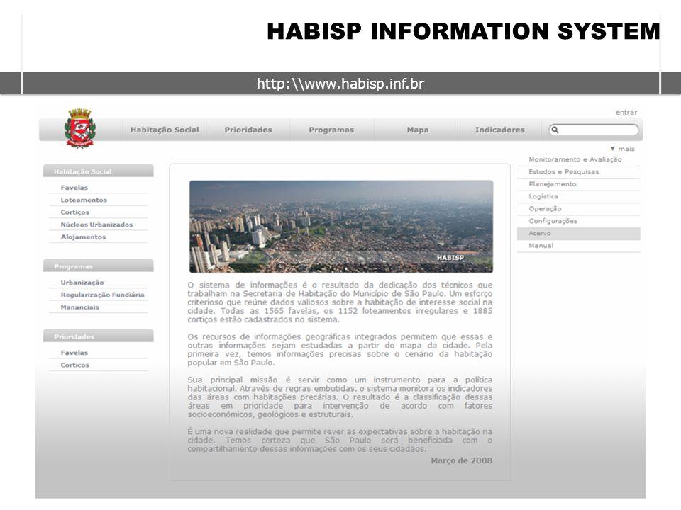http:\\www.habisp.inf.br HABISP INFORMATION SYSTEM