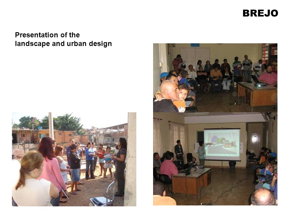Presentation of the landscape and urban design BREJO