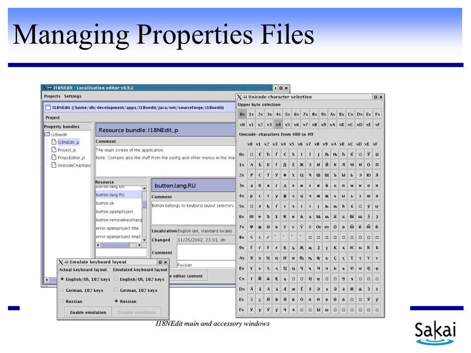Managing Properties Files