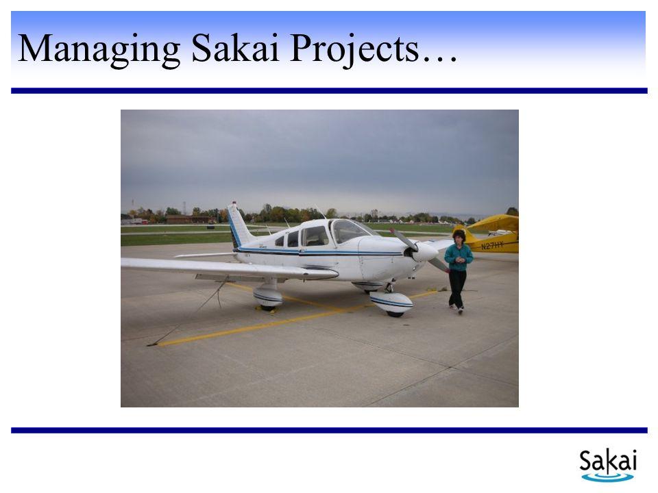Managing Sakai Projects…
