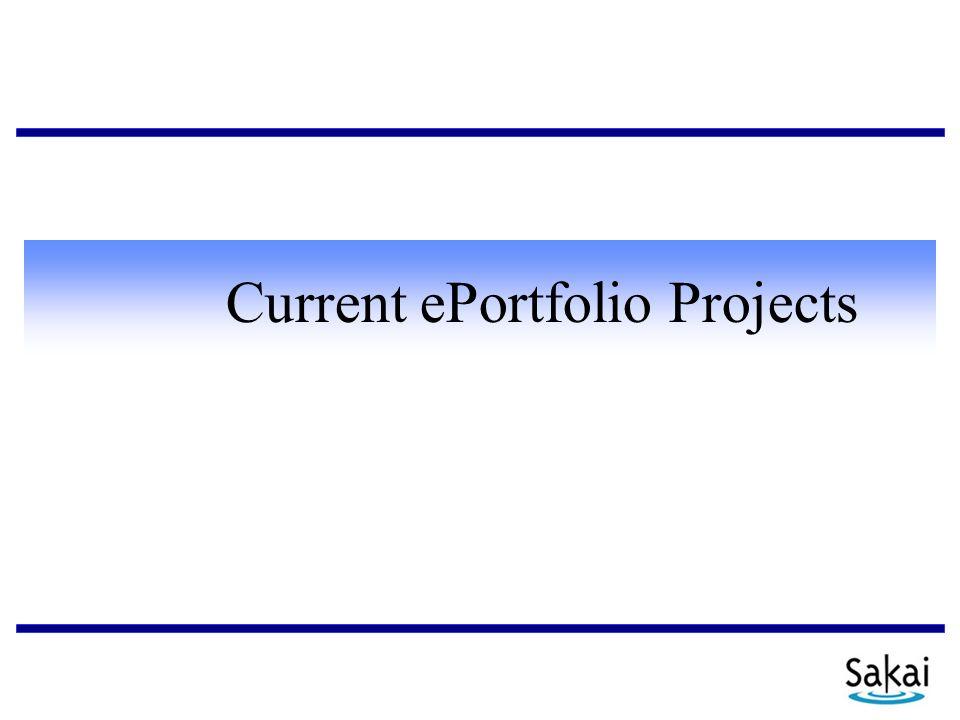 Current ePortfolio Projects