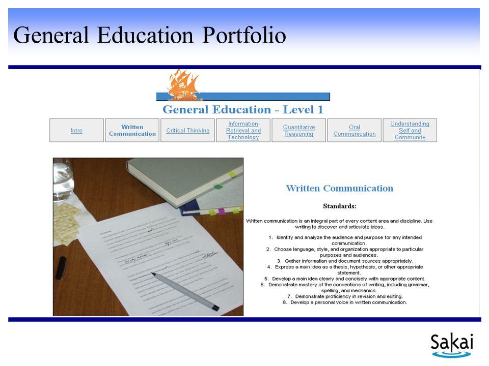 General Education Portfolio