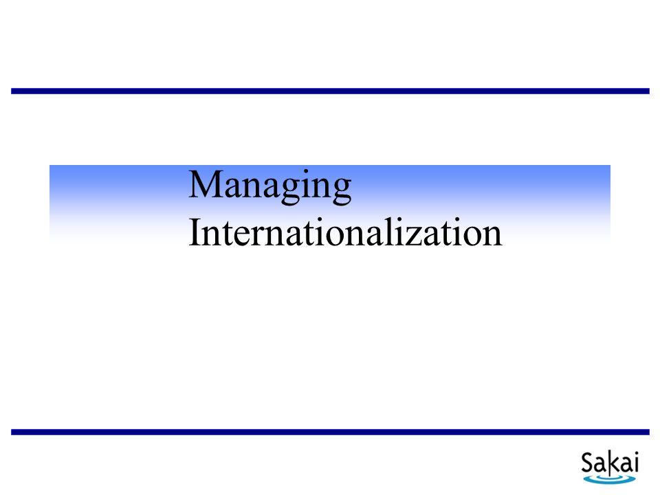 Managing Internationalization