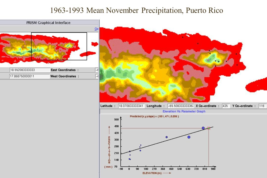 1963-1993 Mean November Precipitation, Puerto Rico