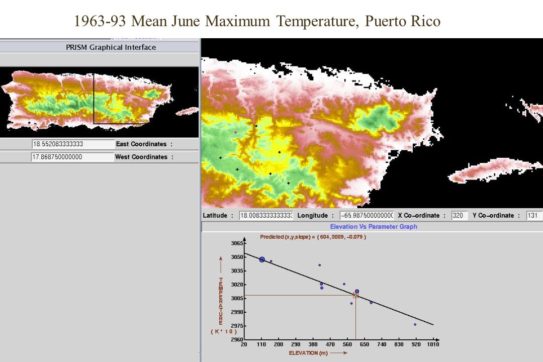 1963-93 Mean June Maximum Temperature, Puerto Rico