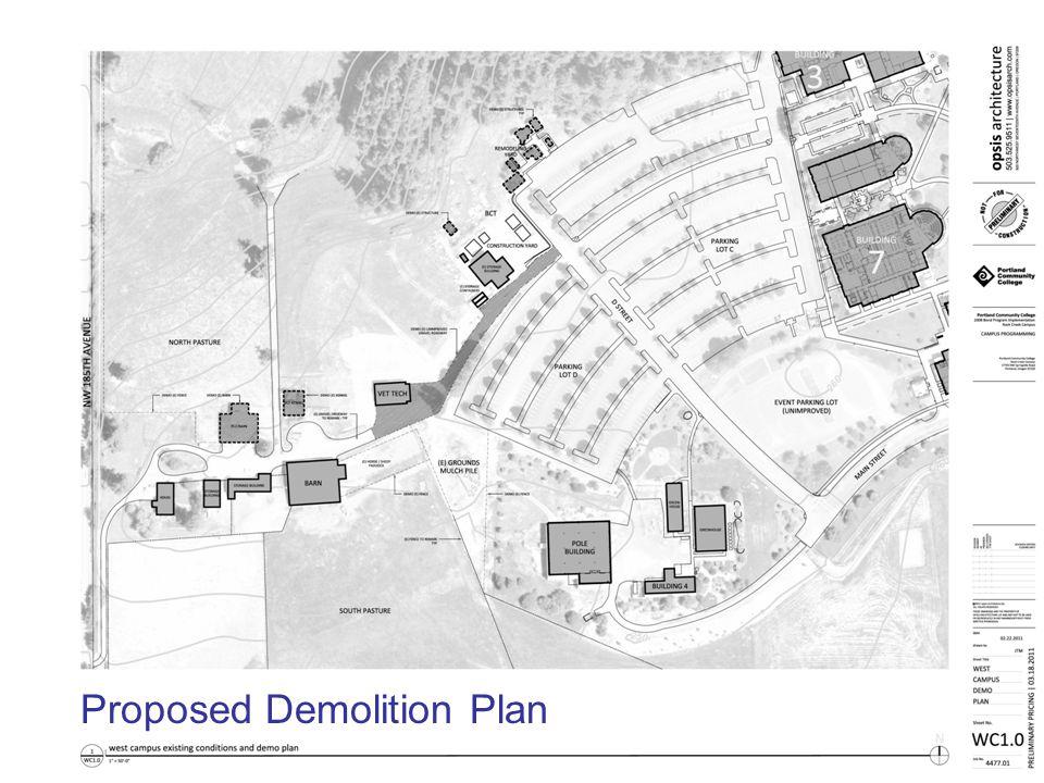 2008 Bond Program Implementation | Rock Creek Campus opsis architecture LLP Proposed Demolition Plan