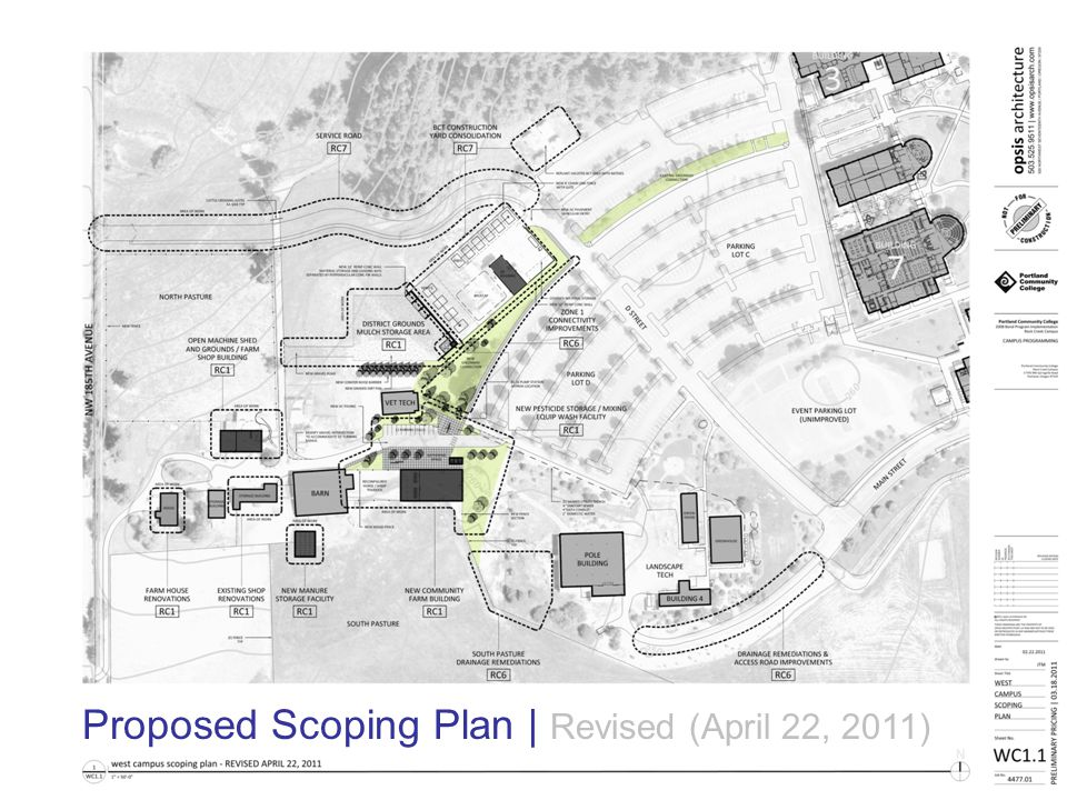 2008 Bond Program Implementation | Rock Creek Campus opsis architecture LLP Proposed Scoping Plan | Revised (April 22, 2011)