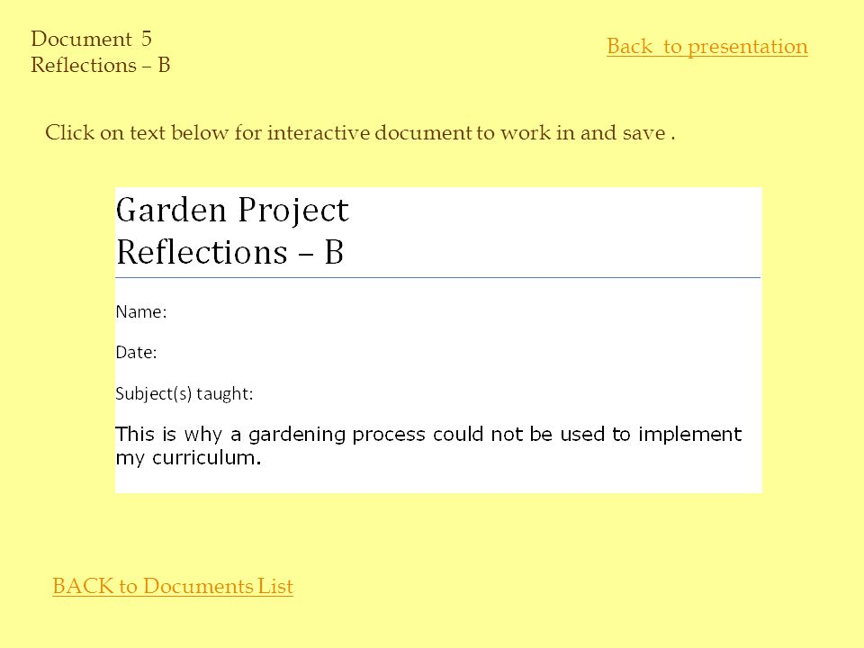 Document 4 Reflections – A Click on text below for interactive document to work in and save.