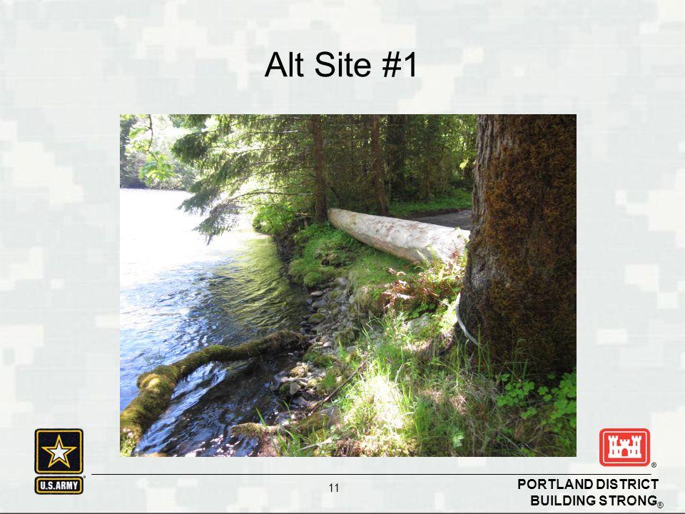 BUILDING STRONG ® PORTLAND DISTRICT 11 Alt Site #1