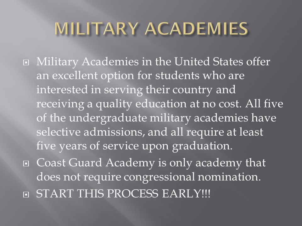 Military Academies in the United States offer an excellent option for students who are interested in serving their country and receiving a quality education at no cost.