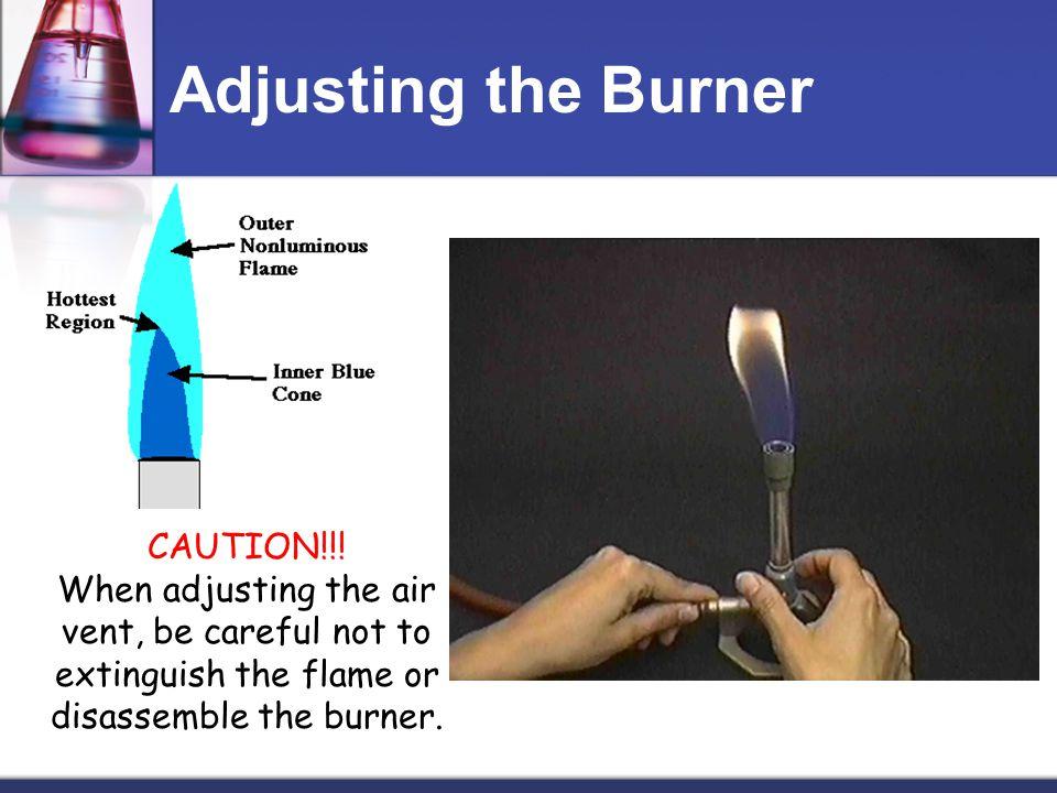 Adjusting the Burner CAUTION!!.