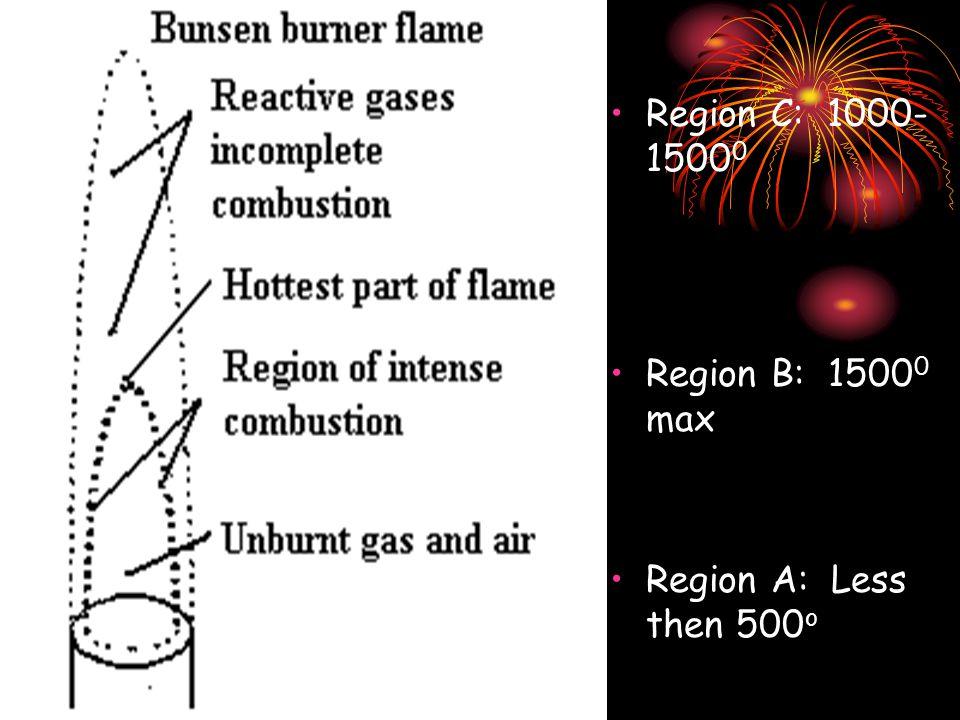 Region C: 1000- 1500 0 Region B: 1500 0 max Region A: Less then 500 o