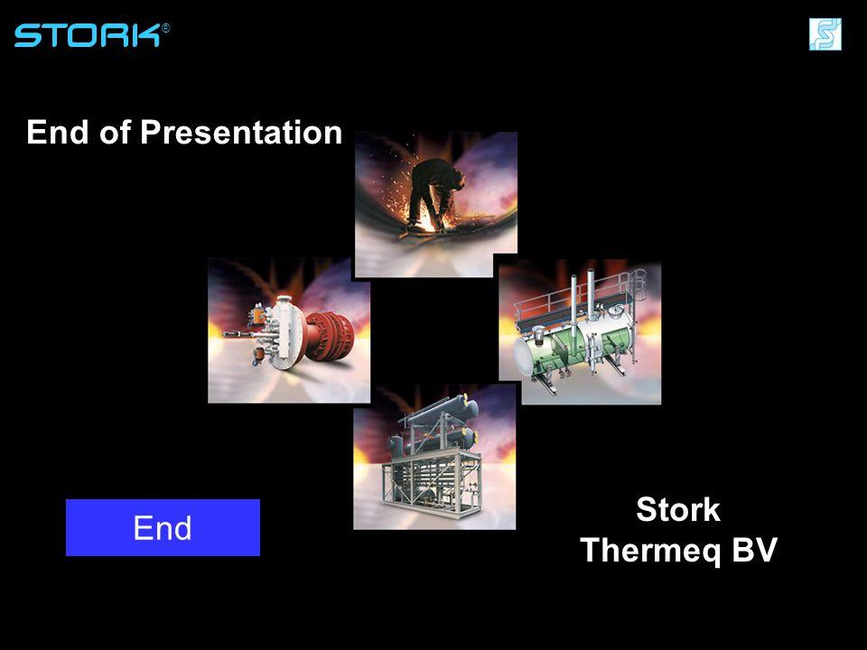 Stork Thermeq B.V. ® End of Presentation Stork Thermeq BV End
