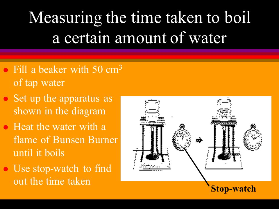 How to heat an object? (3) 4. Put a beaker onto the wire gauze 5. Then add water into the beaker
