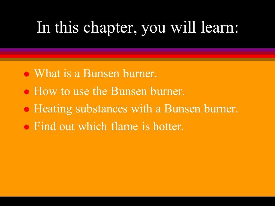 Bunsen Burner Introducing Science