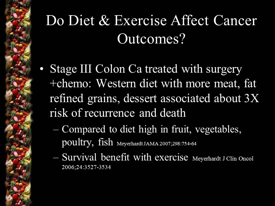 Do Diet & Exercise Affect Cancer Outcomes.