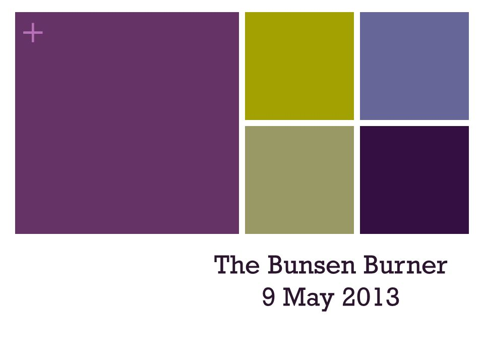 + The Bunsen Burner 9 May 2013