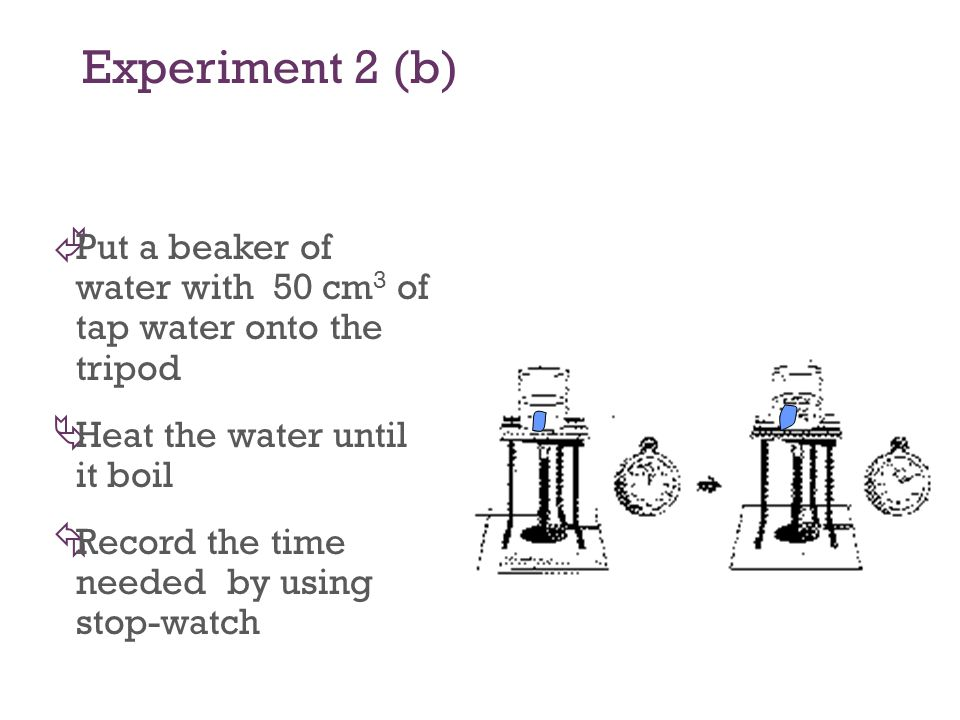Experiment 2 (a) À Light a Bunsen Burner with the air hole opened Á Light a match and hold it over the chimney.