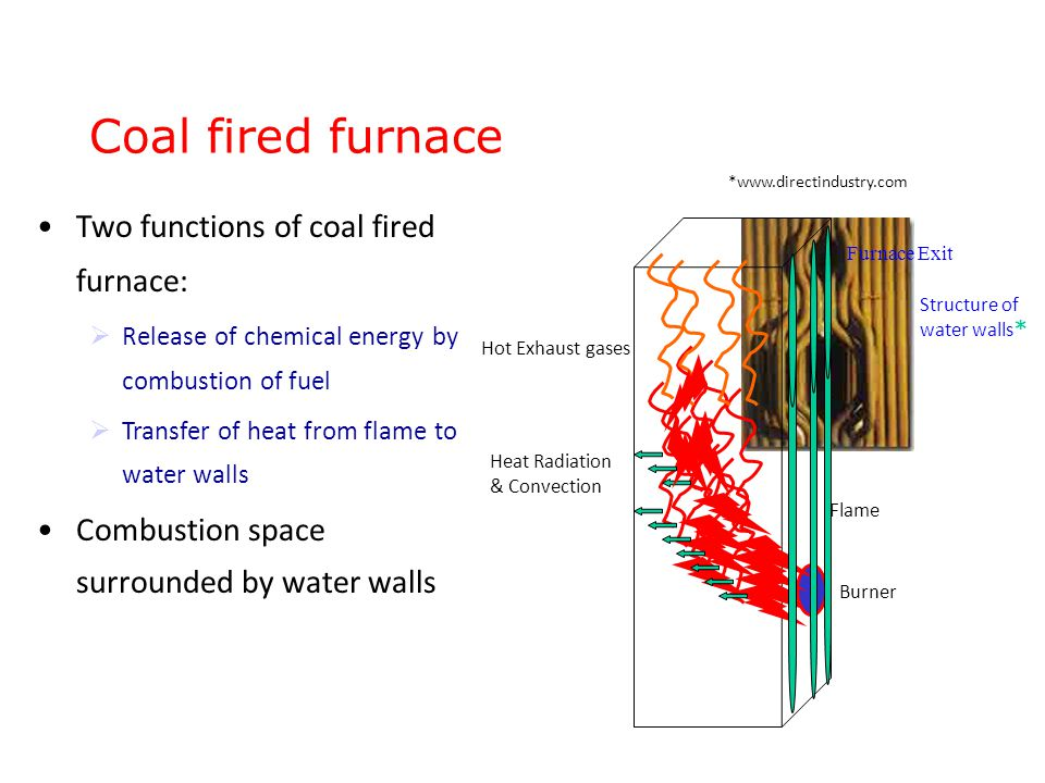 Simplified Approach Emitted Radiation heat flux of flames: Emitted Radiation = Available Heat Heat flux absorbed by walls : Thermal efficiency factor,