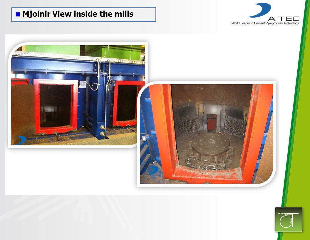Mjolnir View inside the mills