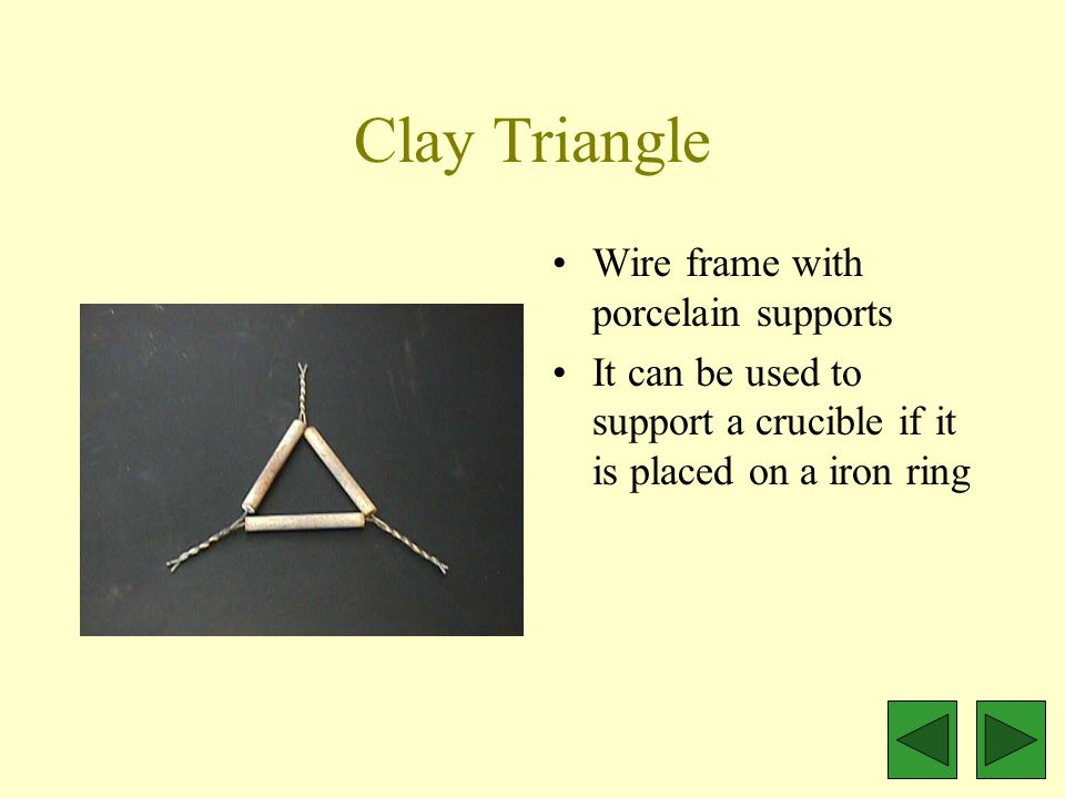Wire Gauze Metal with asbestos center Used to spread the heat of a Bunsen burner