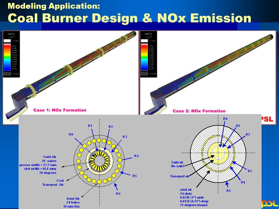 Modeling Application: Coal Burner Design & NOx Emission