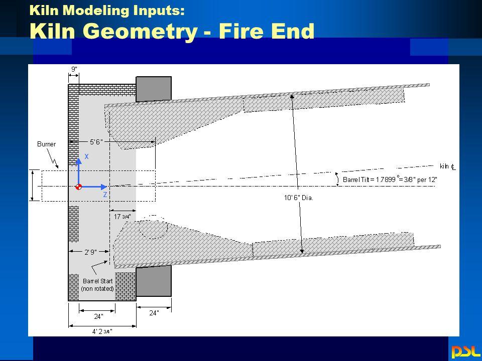 Kiln Modeling Inputs: Kiln Geometry - Fire End