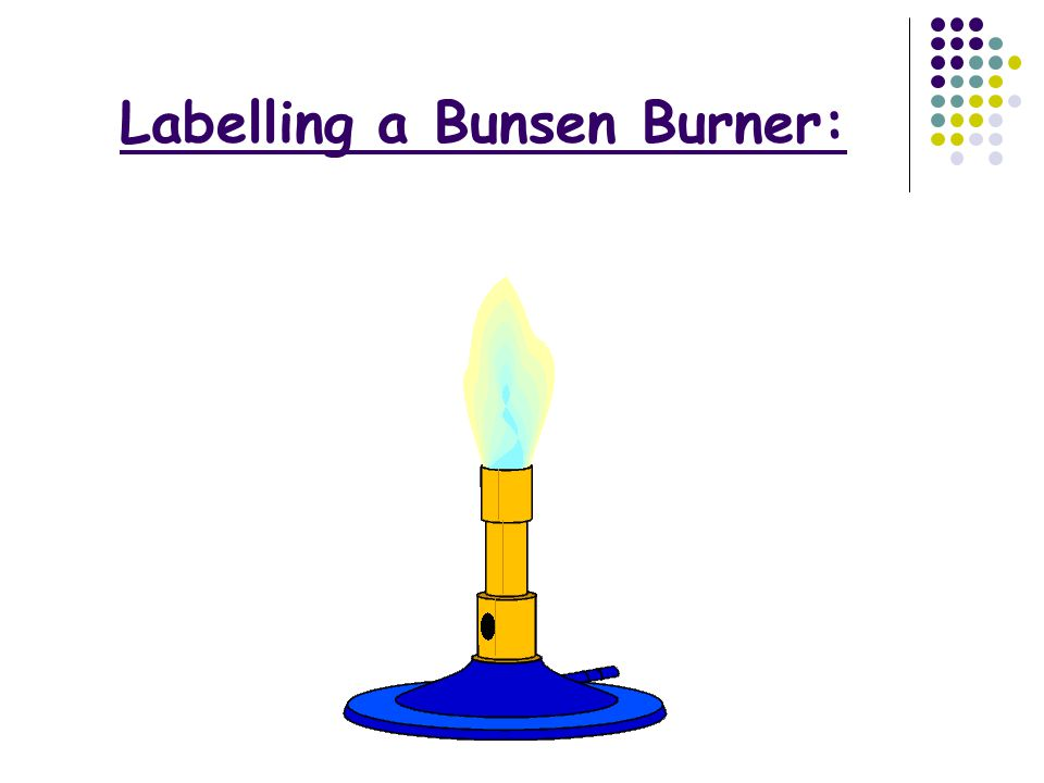 Labelling a Bunsen Burner: