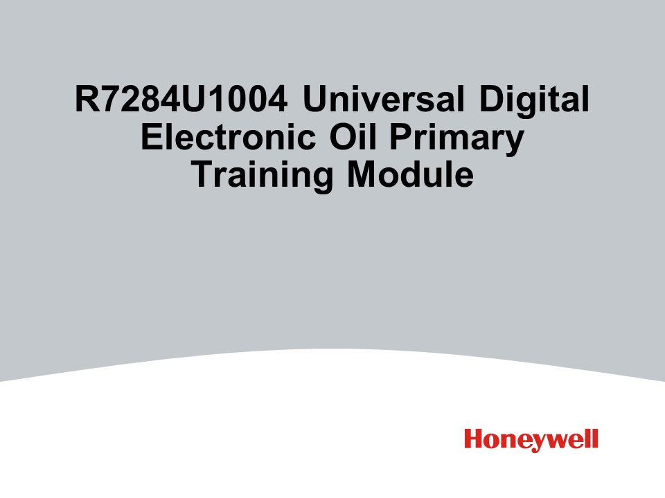 R7284U1004 Universal Digital Electronic Oil Primary Training Module