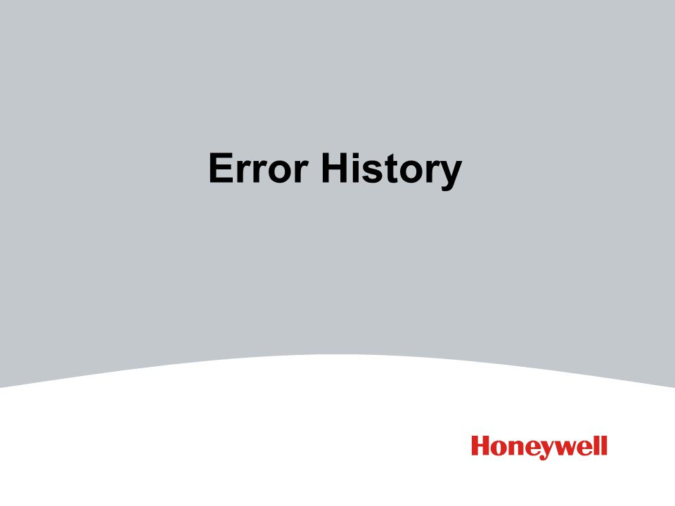 Error History
