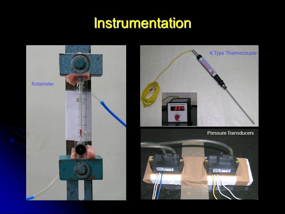 Instrumentation Pressure Transducers K Type Thermocouple Rotameter
