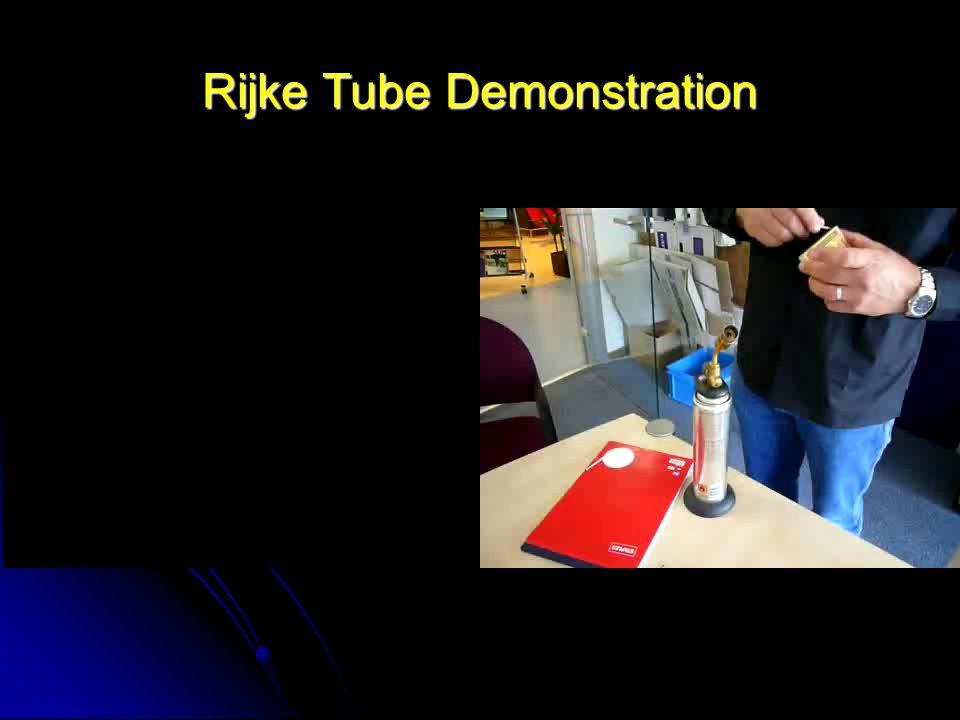 Rijke Tube Demonstration