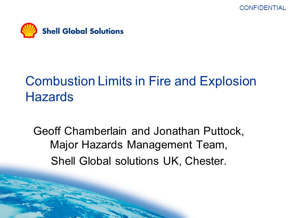 Flammability Limits – Fuel/air/water vapour system.