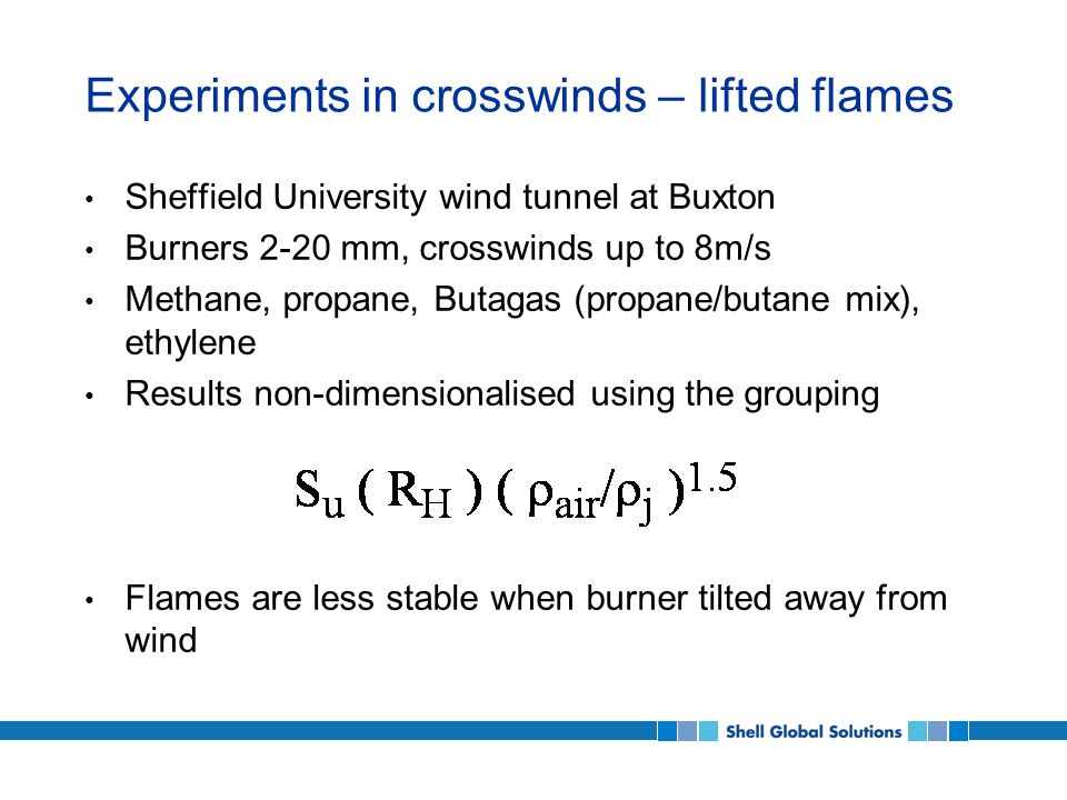 Flame stability – lifted flames in crosswind