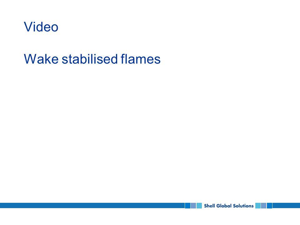 Video Wake stabilised flames
